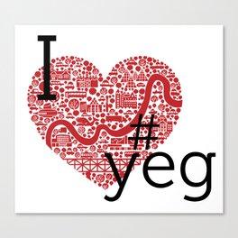 I Heart #YEG Canvas Print