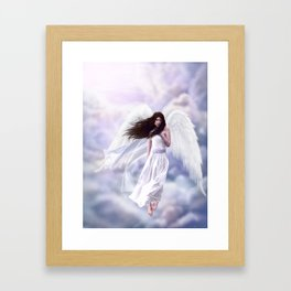 Some Clouds Have Wings Framed Art Print