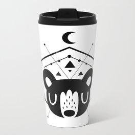 Moon Bear Black Metal Travel Mug