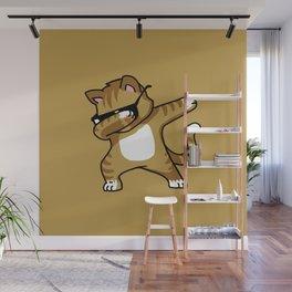 Dabbing Cat Caramel Wall Mural
