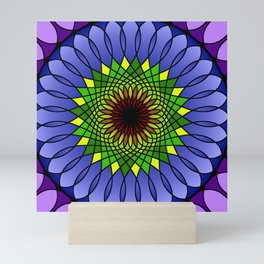 Spring fun mandala Mini Art Print