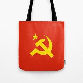 Communist Hammer & Sickle & Star Tote Bag