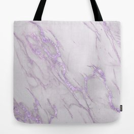 Marble Love Purple Metallic Tote Bag