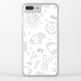 Soccer (football) pattern Clear iPhone Case