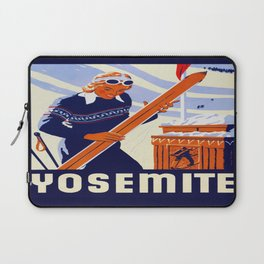 Yosemite Winter Sports Travel Laptop Sleeve