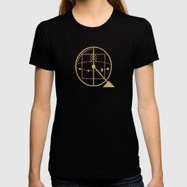 Sacred Geometry Letter Q T-shirt