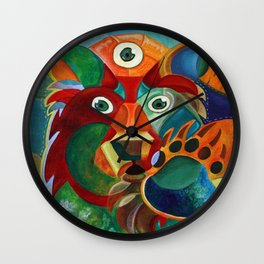 Three Eyed Bear Wall Clock
