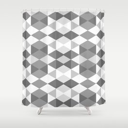Grey Triangles Shower Curtain