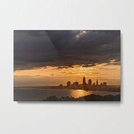 Cleveland Skyline #6 Metal Print