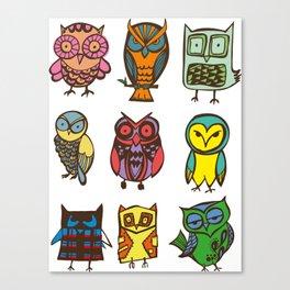 Owlies Canvas Print