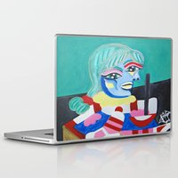 pablo picasso Laptop & iPad Skins featuring Picasso Remake 2000   by Artist_Fran_Doll