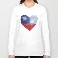 chile Long Sleeve T-shirts featuring Chile Heart by Favio Torres