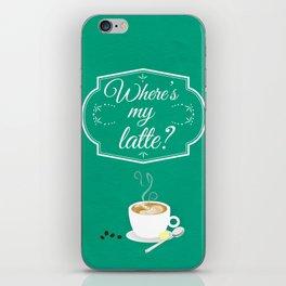 Where's My Latte? iPhone Skin
