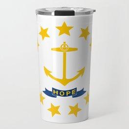Rhode Island State Flag Patriotic Design Travel Mug