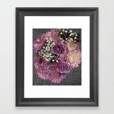 Purple & Pink Bouquet Framed Art Print