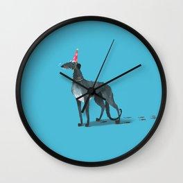 Party Animal : Scottish Deerhound Wall Clock