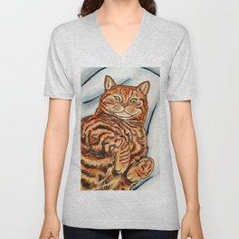 Ginger Cat Unisex V-Neck