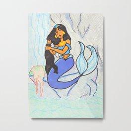 Mermaid Lagoon: Jasmine Metal Print