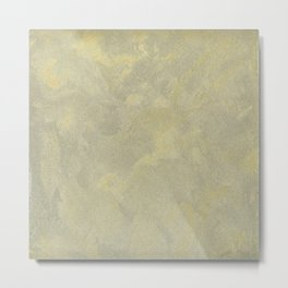 Champagne Skies Silver And Gold Metallic Plasters - Fancy Faux Finishes Metal Print