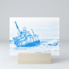 shipwreck aqrewb Mini Art Print