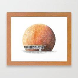 Montreal's Orange Julep Framed Art Print