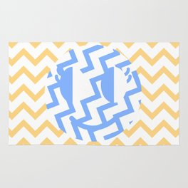 Hello Little Chevron  Rug