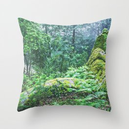 The Nature's green Throw Pillow