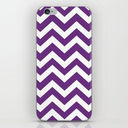 Eminence - violet color - Zigzag Chevron Pattern iPhone Skin