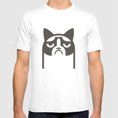 Grumpy Kitties Mens Fitted Tee White MEDIUM