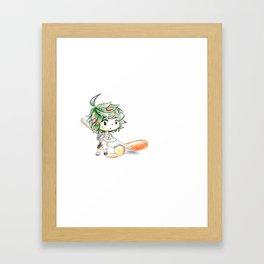 Chibi Salad Personified Framed Art Print