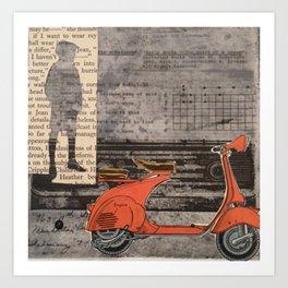 Jack Dreams of Motorbike Art Print