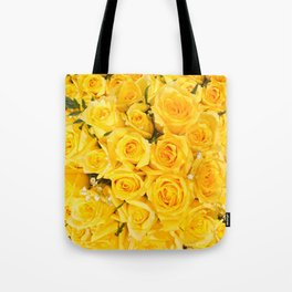 YELLOW ROSES CLUSTERED Tote Bag