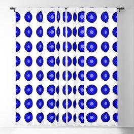 Bullseye -- Blue Blackout Curtain