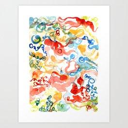 Agitated Celebration Art Print