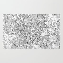 Rome Map Line Rug