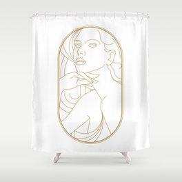 Girl Art Deco 05 Shower Curtain