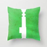 jedi Throw Pillows featuring Vintage Jedi by Fletcher McKinney
