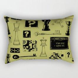 Brain Teaser pattern Rectangular Pillow