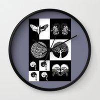 literary Wall Clocks featuring The Literary Pocket Book by Moon Fox