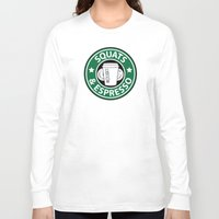 snatch Long Sleeve T-shirts featuring Squats and Espresso Logo by Squats and Espresso