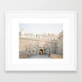 "Travel photography ""Entrance Eivissa Ibiza"" | Printable photo art Spain Framed Art Print"