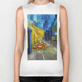 """Vincent van Gogh """"Cafe Terrace, Place du Forum, Arles"""" Biker Tank"""