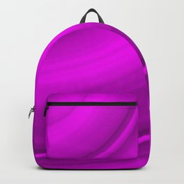 Hot voluminous strawberry curved lines with delicate outlines of ceramic semicircles. Backpack