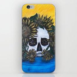 Skull and Sunflowers iPhone Skin
