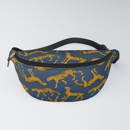 Tigers (Navy Blue and Marigold) Fanny Pack