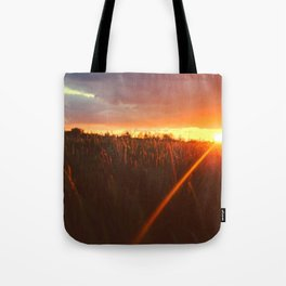 Sunset atop of the Hill Tote Bag