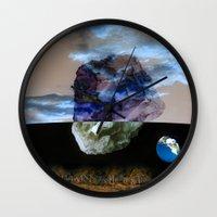 sagan Wall Clocks featuring Multiverse by Deepti Munshaw