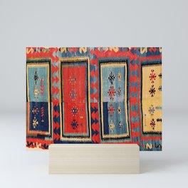 Sivas  Antique Cappadocian Turkish Kilim Print Mini Art Print
