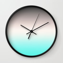 Turquoise gray Ombre Wall Clock
