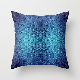 Deep blue glass mosaic Throw Pillow